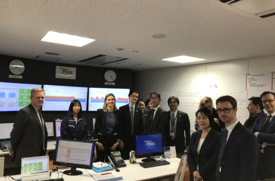 délégation visite centre d'opérations d'Energy Pool