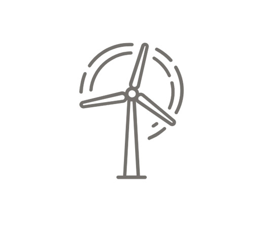 illustration of renewables, wind turbine