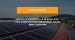 toit industriel panneau solaire