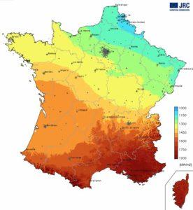 carte ensoleillement France